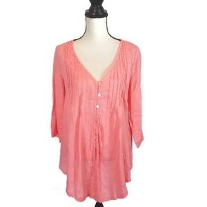 Soft Surroundings Coral Tunic